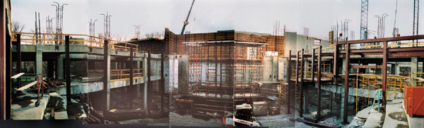 Construction view mid April, 2000