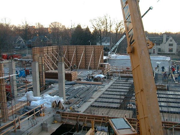 Construction view, January, 2000