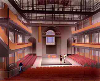 Cad rendering of Pell Chafee Performance Center
